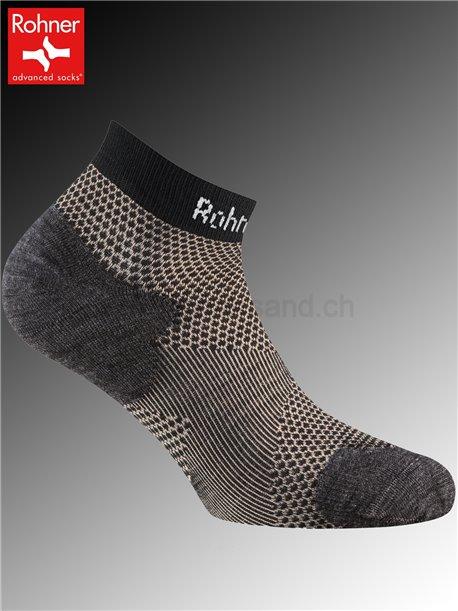 Copper Allsport Sneaker chaussettes de sport Rohner - 009 noir