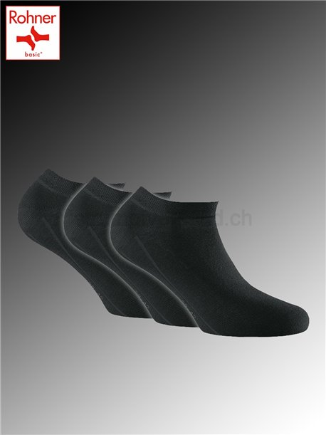 Sneaker Bamboo chaussettes courtes Rohner - 009 noir