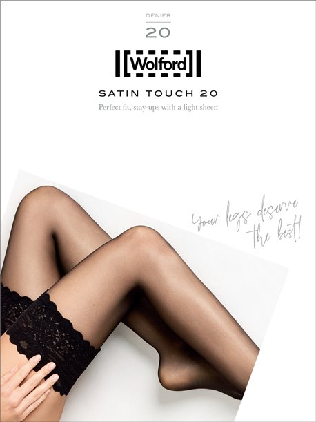 bas jarretière Wolford - SATIN TOUCH 20