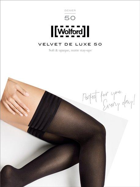 bas jarretières Wolford - VELVET DE LUXE 50