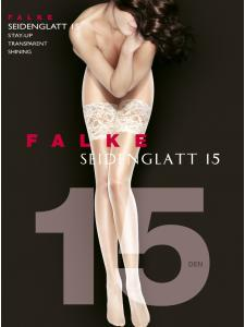 Falke SEIDENGLATT 15 - Bas jarretière