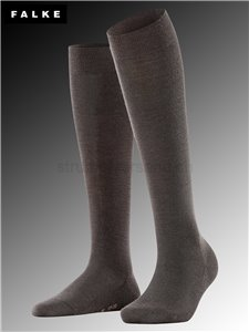 Chaussettes mi-bas SOFT MERINO - 5239 dark brown