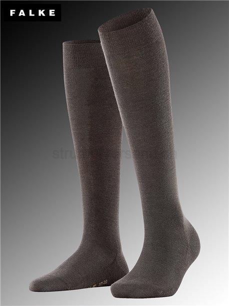 Chaussettes mi-bas SOFT MERINO - 5239 dark brown