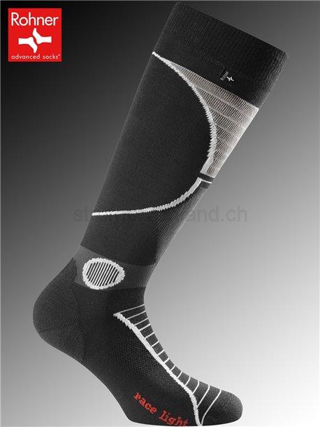 RACE LIGHT chaussettes Rohner - 009 noir