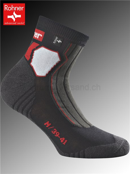 chaussettes Rohner TRAIL - 009 noir