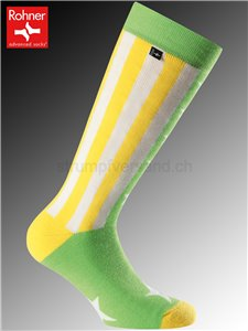chaussettes Rohner AMERICAN - 228 jaune/vert