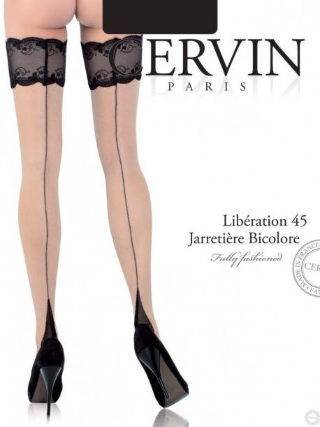 977a6fd57d9 Bas jarretières LIBERATION 45 - bas à couture de Cervin