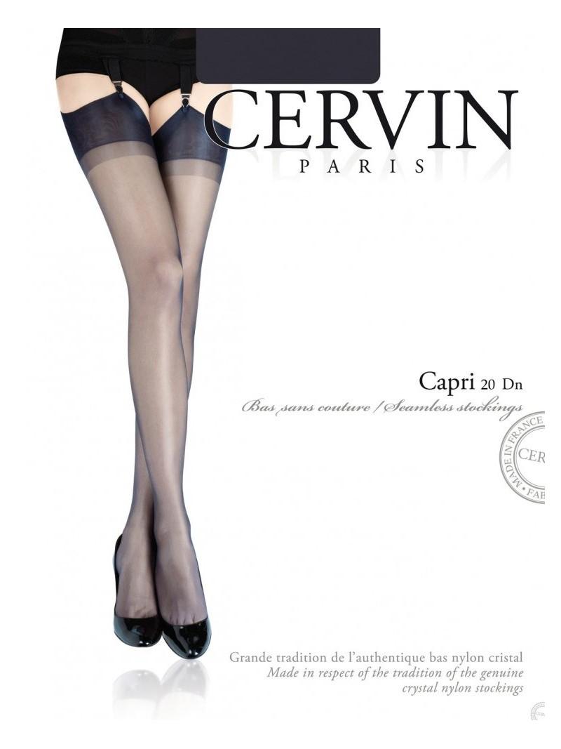 Bas nylon CAPRI 20 - bas voile sans couture de Cervin 4f164508ca8
