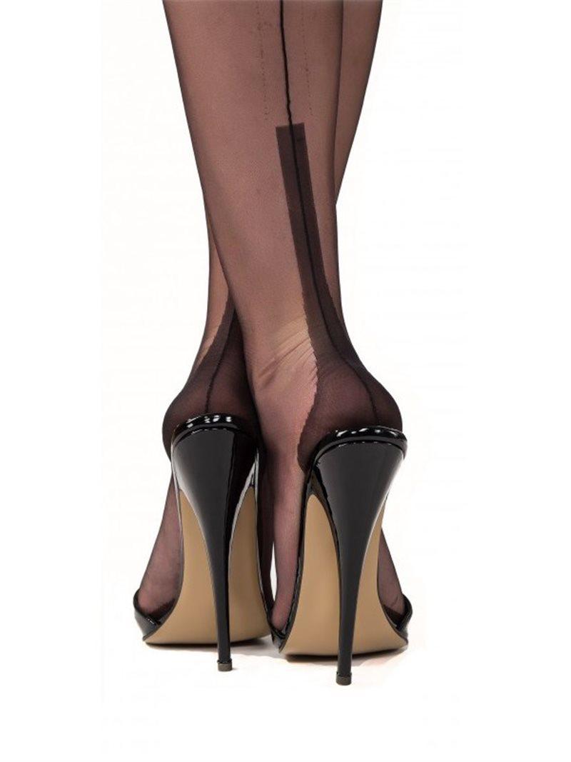 Bas couture, bas nylon avec couture pour un look retro