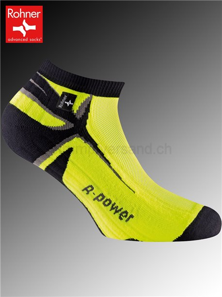 chaussettes Rohner R-POWER - 518 jaune fluo