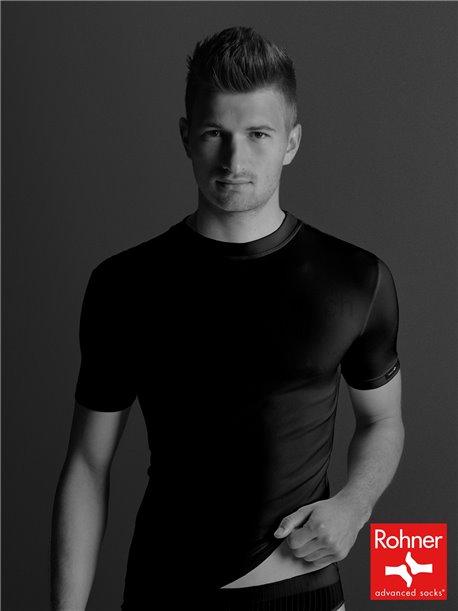 T-Shirt turtle-neck - noir