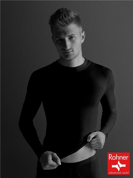 t-shirt manches longues - noir