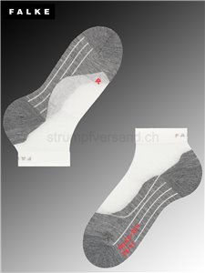 RU4 SHORT men chaussettes de course - 2020 white-mix