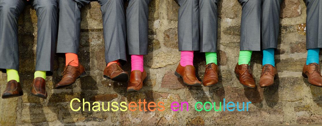 chaussettes en couleur