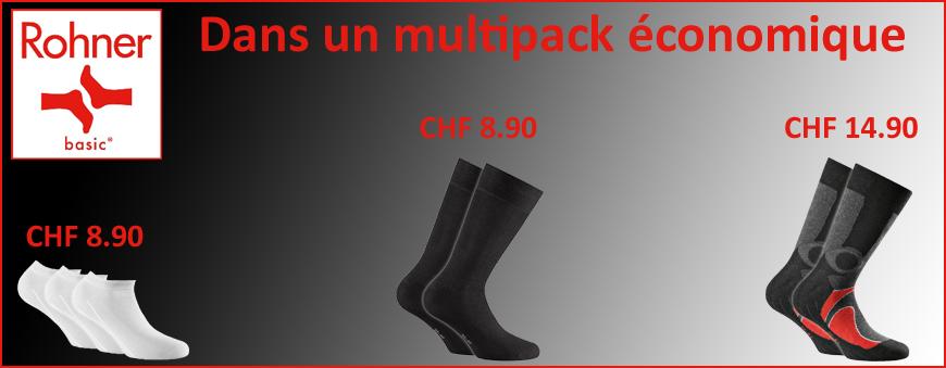 Chaussettes Rohner Basic multipack économique
