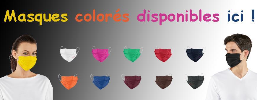 Masques de protection en couleur